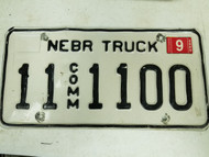 2005 Nebraska Otoe County Commercial Truck License Plate 11 1100