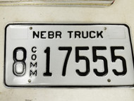 2005 Nebraska Hall County Commercial Truck License Plate 8 17555