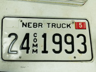 2005 Nebraska Cuming County Commercial Truck License Plate 24 1993
