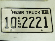 2005 Nebraska Platte County Commercial Truck License Plate 10 2221