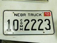 2005 Nebraska Platte County Commercial Truck License Plate 10 2223