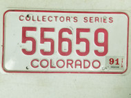 1991 Colorado Collector's Series License Plate 55659