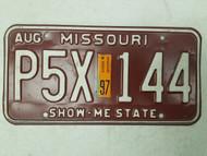 1997 Missouri Show-Me State License Plate P5X 144