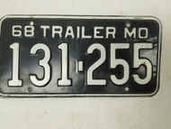 1968 Missouri Show-Me State License Plate 131-255
