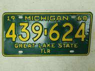 1968 Michigan Great Lake State Trailer License Plate 439-624