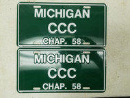 EXPIRED Michigan Chapter 59 License Plate CCC Pair