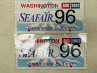 2002 Washington Seafair Experience Summer! License Plate 96 Pair