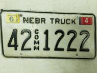 2005 Nebraska Commercial Truck License Plate 42 1222