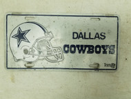 Dallas Cowboys Football Helmet Booster License Plate