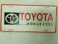 Toyota Dodge City Booster License Plate