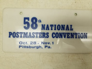58th National Postmaster Convention Booster License Plate