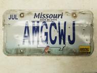 2015 Missouri Show Me State License Plate AMGCWJ