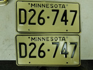 Minnesota Dealer License Plate D26-747 Pair