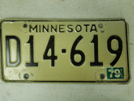 1979 Minnesota Dealer License Plate D14-619