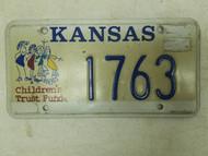 Kansas Children's Trust Fund License Plate 1763