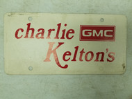 Charlie Kelton's GMC Booster License Plate (3)