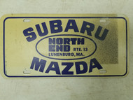 Subaru Mazda North End Massachusetts Booster License Plate (2)