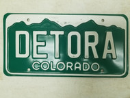 Colorado License Plate DETORA
