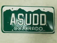 Colorado License Plate ASUDD