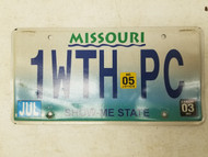 "2003 2005 Missouri Show Me State ""Criminal"" License Plate 1WTH PC"