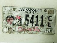 2014 Mississippi Choose Life License Plate 5411