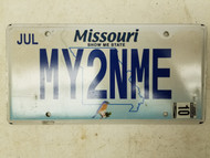 "2010 Missouri Bird Show Me State ""My Two and Me"" License Plate MY2NME"