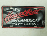 The Heartbeat of America Chevy Trucks Booster License Plate