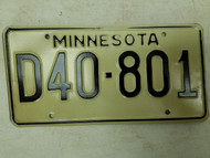 Minnesota Dealer Plate D40-801