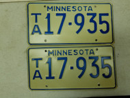 Minnesota License Plate 17-935 Pair