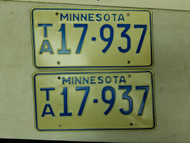 Minnesota License Plate 17-937 Pair