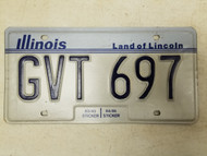 1983-1986 Illinois Land of Lincoln License Plate GVT 697
