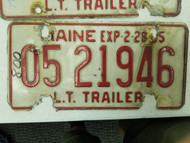1984 Maine Trailer License Plate 05 21946