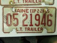 1984 Maine Trailer License Plate 05 21946