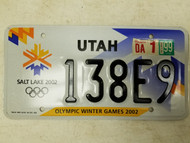 1999 Utah Salt Lake Olympic Winter Games 2002 License Plate 138E9