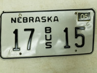 2006 Nebraska Bus License Plate 17 15 (2)