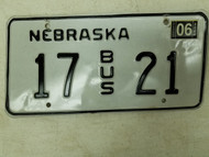 2004 Nebraska Bus License Plate 17 21