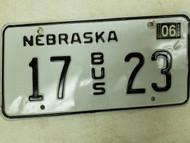 2004 Nebraska Bus License Plate 17 23