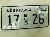 2004 Nebraska Bus License Plate 17 26