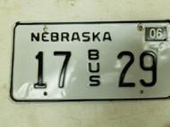 2004 Nebraska Bus License Plate 17 29