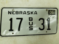 2004 Nebraska Bus License Plate 17 31