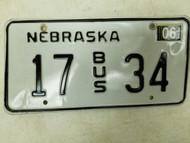 2004 Nebraska Bus License Plate 17 34