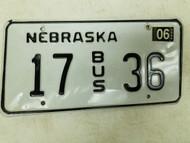 2004 Nebraska Bus License Plate 17 36