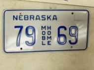 Nebraska Mobile Home License Plate 79 69