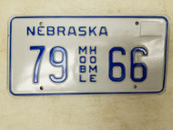 Nebraska Mobile Home License Plate 79 66