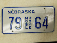 Nebraska Mobile Home License Plate 79 64