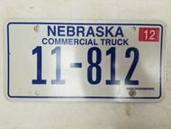 2005 Nebraska Commercial Truck License Plate 11-812