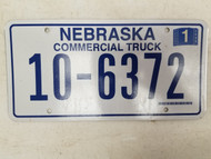 2006 Nebraska Commercial Truck License Plate 10-6372