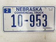 2006 Nebraska Commercial Truck License Plate 10-953