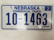 2006 Nebraska Commercial Truck License Plate 10-1463