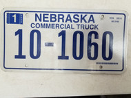 2006 Nebraska Commercial Truck License Plate 10-1060